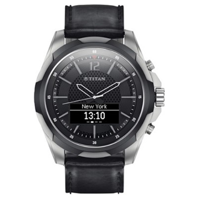HP Inc. PN3U46AA#ABA-SEC Titan Smartwatch Titanium Black Strap
