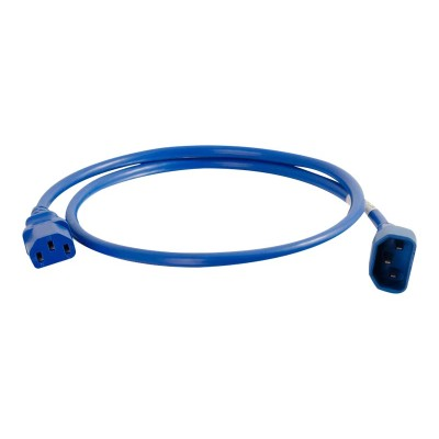 Cables To Go 17480 2FT C14 TO C13 18/3 SJT BLUE