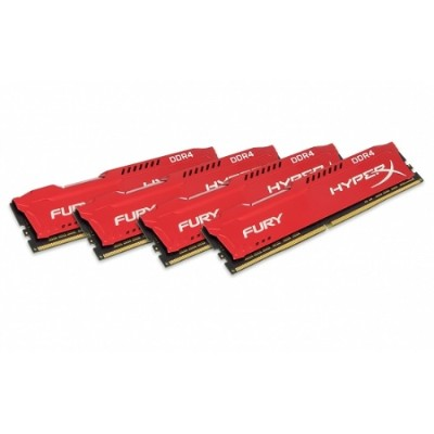 Kingston HX421C14FR2K4/32 32GB 2133MHz DDR4 CL14 DIMM (Kit of 4) 1Rx8 HyperX FURY Red
