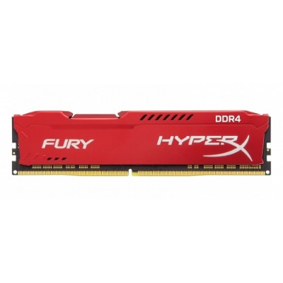 Kingston HX424C15FR2/8 8GB 2400MHz DDR4 CL15 DIMM 1Rx8 HyperX FURY Red