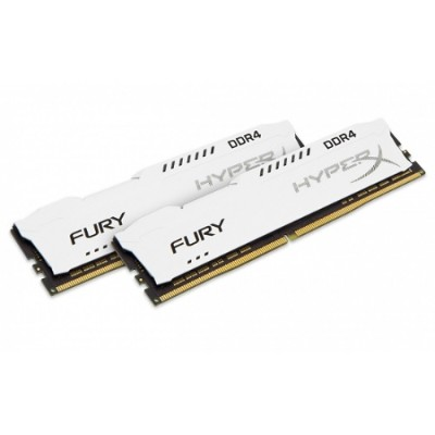 Kingston HX424C15FW2K2/16 16GB 2400MHz DDR4 CL15 DIMM (Kit of 2) 1Rx8 HyperX FURY White