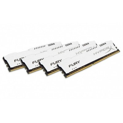 Kingston HX424C15FW2K4/32 32GB 2400MHz DDR4 CL15 DIMM (Kit of 4) 1Rx8 HyperX FURY White
