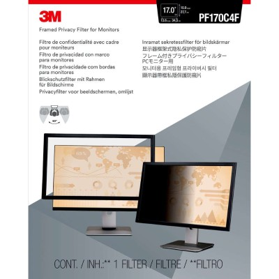 "3M Framed Privacy Filter for 17"" Standard Monitor - Display privacy filter - 17"" - black"
