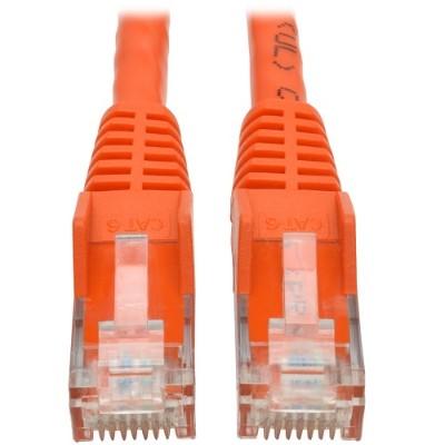 TrippLite N201-002-OR 2ft. Cat6 Gigabit Snagless Molded UTP Patch Cable (RJ45 M/M) - Orange