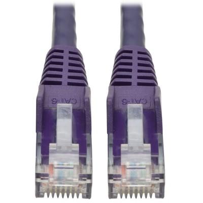 TrippLite N201-001-PU 1ft. Cat6 Gigabit Snagless Molded UTP Patch Cable (RJ45 M/M) - Purple