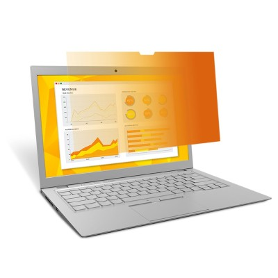 3M GF156W9B Gold Privacy Filter for 15.6 Laptop with COMPLY Attachment System - Notebook privacy filter - 15.6 wide - gold