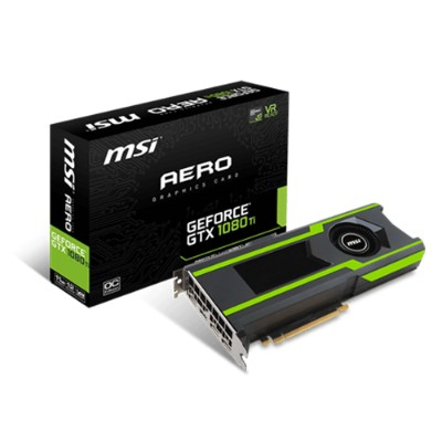 MSI GTX 1080 TI AERO11G GTX 1080 Ti AERO 11G - Graphics Card - 11GB GDDR5X  - PCI Express x16 3.0 - 3x DisplayPort  HDMI