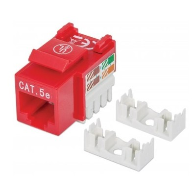 Intellinet Network Solutions 210478 Cat5e Punch down Keystone Jack - Red