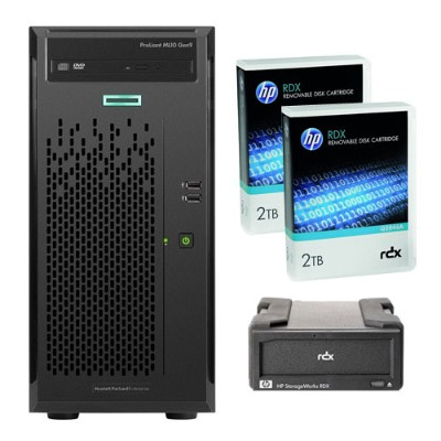 Hewlett Packard Enterprise 866965-S01 Bundle Smart Buy ProLiant ML10 Gen9 Intel Core i3-6100 Dual-Core 3.70GHz Tower Server - 4GB RAM  no HDD  DVD-RW  Gigabit E