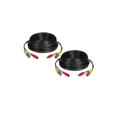 TRENDnet TV-DC102 2 Pack 30 m / 100 ft. HD Video and Power BNC Cable