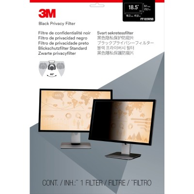 3M Corp PF185W9B Privacy Filter for 18.5 Widescreen Monitor