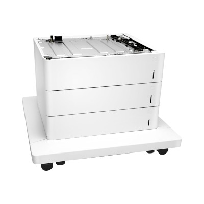 HP Inc. P1B11A Paper Feeder and Stand - Media tray / feeder - 1650 sheets in 3 tray(s) - for Color LaserJet Managed E65150  E65160  Color LaserJet Man