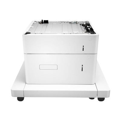 HP Inc. J8J92A Paper Feeder and Stand - Printer base with media feeder - 2550 sheets in 2 tray(s) - for LaserJet Managed MFP E62555  MFP E62655  MFP E