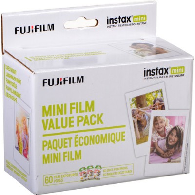 Fujifilm 600016111 INSTAX MINI FILM VALUE PK 60CT PERP