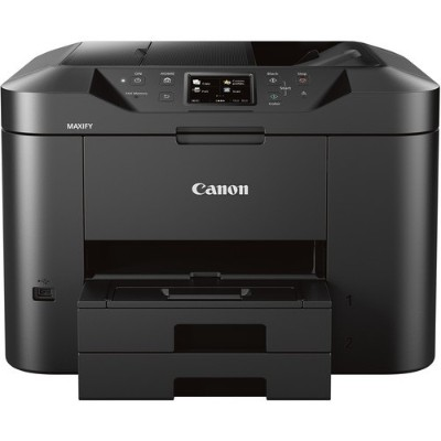 Canon MB2720 Maxify MB2720 Small Office / Home Office Printer - Print  Scan  Copy  Fax - 1200x600 dpi  24ipm Black/15.5ipm Color  Automatic Duplex Printing  Fou