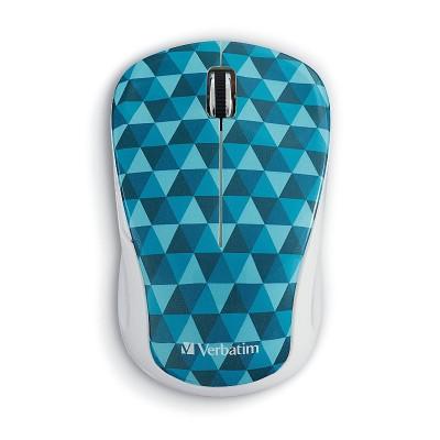 Verbatim 99745 Wireless Notebook Multi-Trac Blue LED Mouse – Diamond Pattern Blue