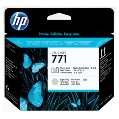 HP Inc. P2V50A 771A Value Pack - 3-pack - 775 ml - light gray  photo black - original - DesignJet - printhead with cartridge - for DesignJet Z6200