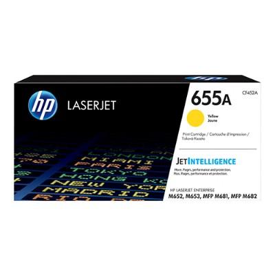 HP Inc. CF452A 655A - Yellow - original - LaserJet - toner cartridge (CF452A) - for Color LaserJet Enterprise M652  M653  LaserJet Enterprise Flow MFP