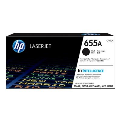 HP Inc. CF450A 655A - Black - original - LaserJet - toner cartridge (CF450A) - for Color LaserJet Enterprise M652  M653  LaserJet Enterprise Flow MFP