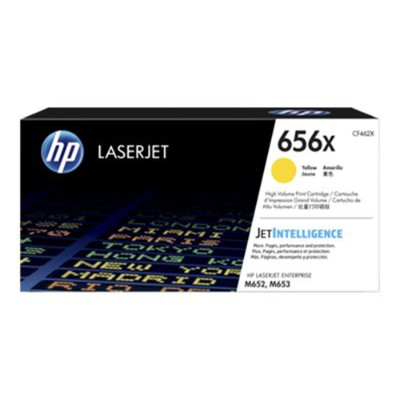 HP Inc. CF462X 656X - High Yield - yellow - original - LaserJet - toner cartridge (CF462X) - for Color LaserJet Enterprise M652dn  M652n  M653dh  M653