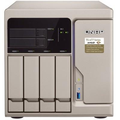 QNAP TS-677-1600-8G-US TS-677 - NAS server - 6 bays - SATA 6Gb/s - RAID 0  1  5  6  10  JBOD  5 hot spare  6 hot spare  10 hot spare - RAM 8 GB - Giga