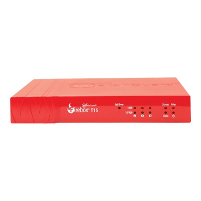 WatchGuard WGT15001-WW Firebox T15 - Security appliance - with 1 year Standard Support - 3 ports - GigE