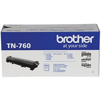 Brother TN760 TN760 - High Yield - black - original - toner cartridge - for  DCP-L2550  HL-L2350  L2370  L2375  L2390  L2395  MFC-L2710  L2750  HL-L23