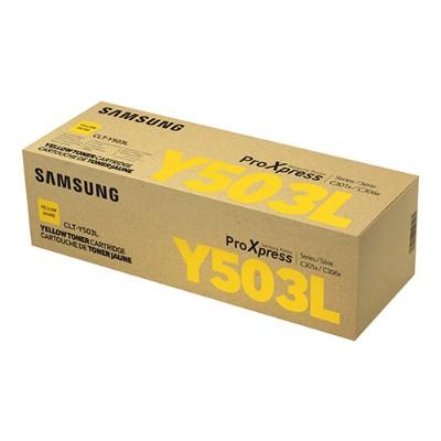 HP Inc. SU494A Samsung CLT-Y503L - High Yield - yellow - original - toner cartridge (SU494A) - for ProXpress SL-C3010DW  SL-C3010ND  SL-C3060FR  SL-C3