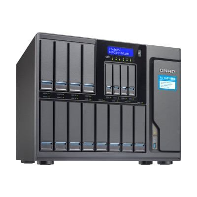 QNAP TS-1685-D1521-32G-US 12 (+4) Bay High-Capacity 10GbE iSCSI NAS  Intel Xeon D1521 4-core 2.4GHz  32GB RAM  SATA6G  4 x 1GbE  2 x 10GbE (Base-T)  4