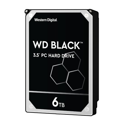 WD WD6003FZBX WD Black WD6003FZBX - Hard drive - 6 TB - internal - 3.5 - SATA 6Gb/s - 7200 rpm - buffer: 256 MB