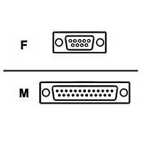 Belkin F2L088-25 PRO Series - Serial cable - DB-9 (F) to DB-25 (M) - 25 ft - molded  thumbscrews