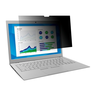 3M Corp TF140W9B Touch Privacy Filter for 14.0 Widescreen Laptop - Standard Fit with COMPLY Attachment System - Notebook privacy filter - 14 wide - bl