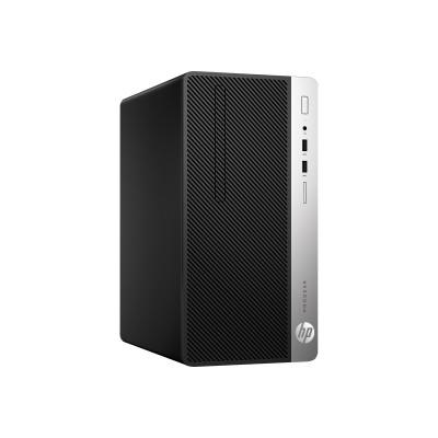 HP Inc. 4BV85UT#ABA SmartBuy ProDesk 400 G5 8th Gen Intel Core i3-8100 3.6GHz Micro Tower PC - 4GB RAM  500GB HDD  DVD-Writer  UHD Graphics 630  Gigab