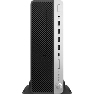 HP Inc. 4HJ84UT#ABA ProDesk 600 G4 8th Gen Intel Core i3-8100 Quad-Core 3.60GHz Small Form Factor PC - 4GB RAM  500GB HDD  DVD-Writer  Integrated Inte