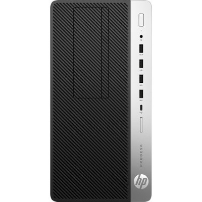 HP Inc. 4HP17UT#ABA ProDesk 600 G4 8th Gen Intel Core i5-8500 6-Core 3GHz Microtower PC - 8GB DDR4-2666 SDRAM  256GB NVMe PCIe M.2 SSD  Integrated Int