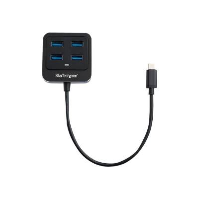 StarTech.com HB31C4AB 4-Port USB-C Hub - USB C to USB 3.1 Gen 2 Hub - 4x USB-A Ports - Hub - 4 x SuperSpeed USB 3.0 - desktop