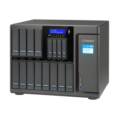 QNAP TS-1685-D1531-16G-US TS-1685 12 (+4) BAY HIGH-CAPACITY 10GBE ISCSI NAS  INTEL XEON D1531 6-CORE 2.2GHZ  16GB RAM  SATA6G  4 X 1GBE  2 X 10GBE (BA