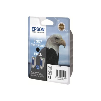 Epson T007201-S T007 - Black - original - ink cartridge - for Stylus Photo 1270  1280  1290  780  785  790  825  870  875  890  895  900  915