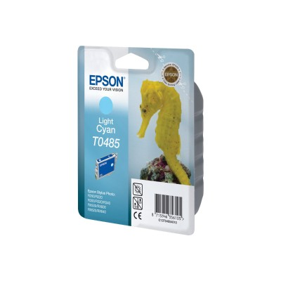 Epson T048520-S T0485 - Light cyan - original - ink cartridge - for Stylus DX3800  Stylus Photo R200  R220  R300  R320  R340  RX500  RX600  RX620  RX6