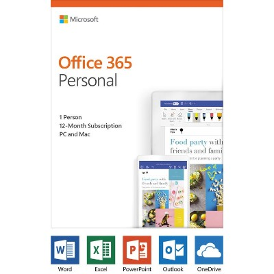 Microsoft QQ2-00728 Office 365 Personal - Box pack (1 year) - 1 person - medialess  P4 - Win  Mac  Android  iOS - English - North America