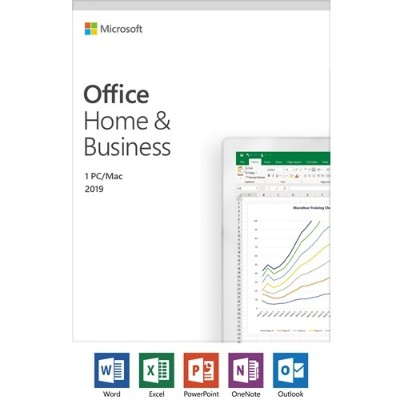 Microsoft T5D-03203 Office Home and Business 2019 - 1 Device  Windows 10 PC/Mac Key Card