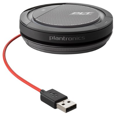 Plantronics 210900-01 Calisto 3200 Speakerphone - USB-A  Full-Duplex 360° Microphone  Plug & Play  Dynamic Mute Alert  Compact & Portable  Mac & Windo