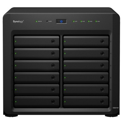 Synology DS2419+ DiskStation DS2419+ Expandable 12-Bay Desktop NAS Server for Small and Medium-Sized Businesses - Intel Atom C3538 Quad-Core 2.1GHz  4
