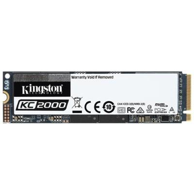 Kingston SKC2000M8/500G KC2000 500GB M.2 2280 NVMe PCIe Gen 3.0 x4 96-layer 3D TLC NAND Solid State Drive