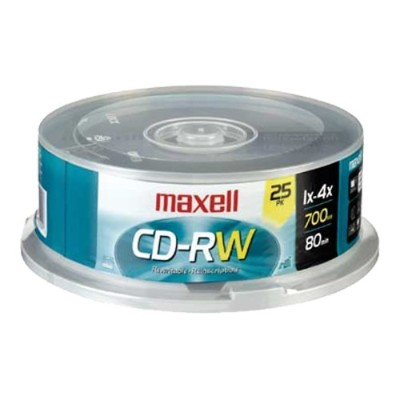 Maxell 630026 25 Pack CD-RW Spindlw