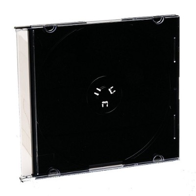 Verbatim 94868 CD/DVD Black Slim Jewel Cases - 200pk (bulk)