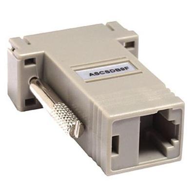 Raritan Computer ASCSDB9F Null modem adapter - DB-9 (F) to RJ-45 (F) - for ConsoleSwitch SCS232