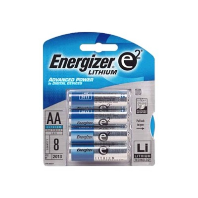 Energizer L91BP-8 Standard Batteries - AA Lithium ( 8-Pack )