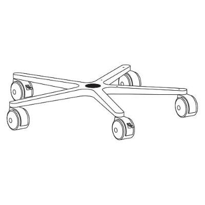 Ergotron 33-061 System caster base - black - for Mobile WorkStand