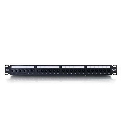 Cables To Go 37050 24-Port CAT6 110-Type Patch Panel